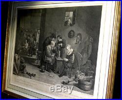 FRANC-MACONNERIE Gravure TENIERS (David) Les Francs-Maçons flamands en loge