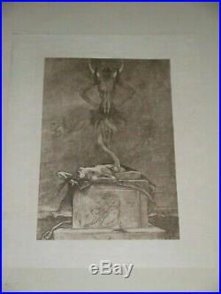 Felicien rops gravure le sacrifice sur japon série des sataniques