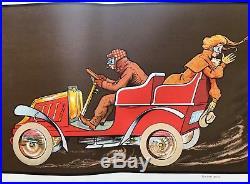 Fernand Fernel Rare Lithographie Originale Automobile Ed Dietrich