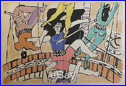 Fernand Léger lithographie Le cirque Circus Trapézistes 1950