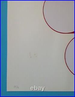 Friedrich GRÄSEL (1927-2013) Lithographie 1968 signée 54x54cm Op Art 50ans