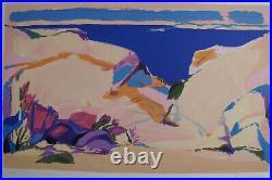 GABRIEL GODARD (1933-) LITHOGRAPHIE SIGNéE PAPIER ARCHES 37X 56 cm LA CRIQUE HC