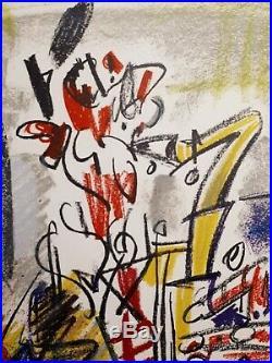 GEN PAUL grande lithographie sur Velin d'Arches le saxophoniste