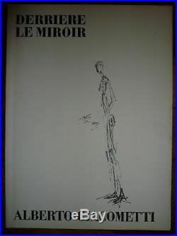 GIACOMETTI Litho Texte de Jean Genet 1957 Maeght dlm