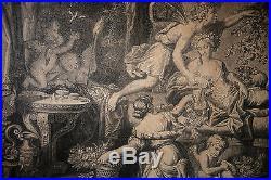 GRAVURE-PIERRE MIGNARD-J. B. DE POILLY-LE PRINTEMS-EPOQUE XVII eme