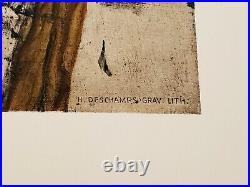 Georges Braque 1960 lithographie originale papier Arches Violon Mélodie
