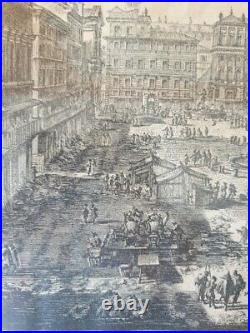Giovanni Battista Piranesi Gravure Veduta di Piazza Navona eau forte Piranèse
