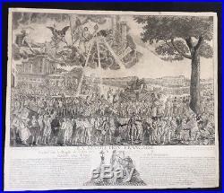Grande Gravure Allégorique La Révolution Française Par Duplessis C 1792