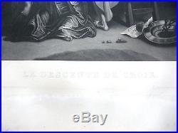 Grande gravure d'aprés PIERRE PAUL RUBINS d' Alfred Cornillet 71 cm x 95 cm