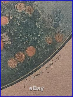 Gravure 18ème l'Amour par Fragonard et Janinet 1777