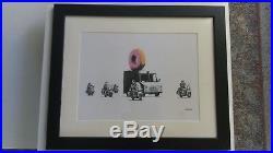 Gravure, Banksy, Strawberry Donut Tirage 300 Exemplaires numérotés