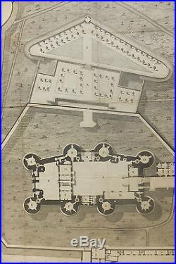 Gravure Plan de la Bastille Fin XVIIIème S. Gravée par Gaitte Plan de Batiment