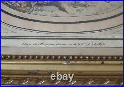 Gravure XVIII Demarteau pastorale berger embrasse sa bergère Boucher Beraldi