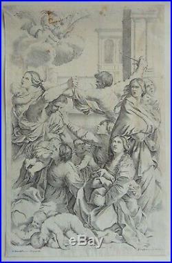 Gravure ancienne italienne, italian engraving, G. Reni (1575-1642)