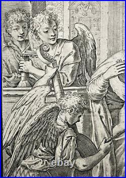 Gravure dAgostino CARRACCI daprès Paolo Véronèse