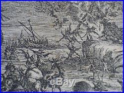 Gravure eau forte Jacques Callot tentation de st Atoine 2ème état