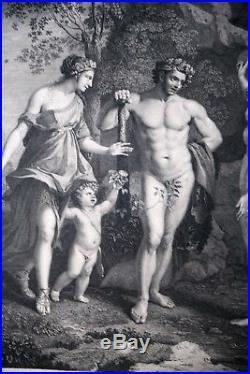 Gravure-nicolas Poussin-herculis Judicium-robert Strange-londres-1759-hercule