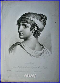 Gravure-portrait-cornelie-louis Lafitte-girard Graveur-epoque Empire