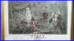 Gravure réhaussée de 1785 réalisé par Charles-Melchior Descourtis d'après Taunay