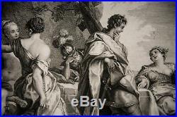 Gravure-telemaque-calypso-mythologie Grec-antiquites-homere-ulysse-grece