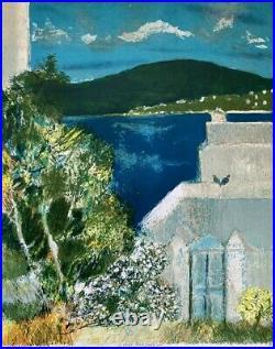 Guy Bardone (1927-2015) Lithographique Originale Paysage De Mer Signee (8)