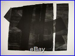 HARTUNG Hans Lithographie originale signée 1973 Art Abstrait Lyrique abstraction
