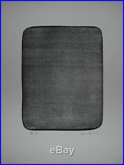 HARTUNG Hans Lithographie originale signée 1976 art abstrait Lyrique abstraction