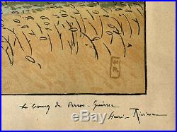 HENRI RIVIERE gravure lithographie bretonne bretagne marine Perros Guirec