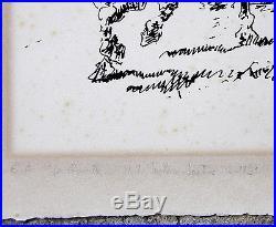 H. Toulouse-lautrec 1864-1961. La Charrette. Grande & Rare Épreuve D'artiste 1891