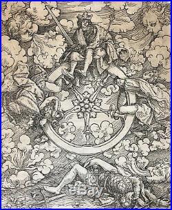 Hans I BURGKMAIR (1473-1531) l'élève de Doué d' Albrecht Dürer Bois circa 1532