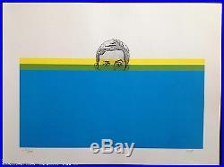 Hans-Rudolf HUBER (1936-2008) Rare Lithographie Signée 1970 Géométrie Pop Art
