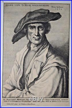 Hans von Zurch Goltshmidt GRAVURE HOLBEIN Wenceslaus HOLLAR 1647