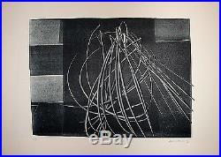 Hartung Hans Lithographie originale signée numérotée 1976 abstraction Lyrique