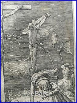 Hendrick GOLTZIUS (1558-1617) Christ sur la croix (Passion), gravure originale