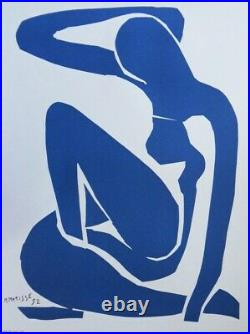 Henri MATISSE Nu Bleu LITHOGRAPHIE SIGNEE MOURLOT & Musée Céret 1980