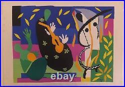 Henri Matisse Tristesse du Roi 1952 Lithographie signée dans la planche