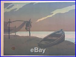 Henri RIVIERE (1864-1951) Affiche Le Soir 1906 Lithographie Verneau