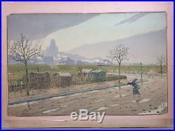 Henri RIVIERE (1864-1951) Butte Montmartre 1900 Paysages Parisiens Lithographie