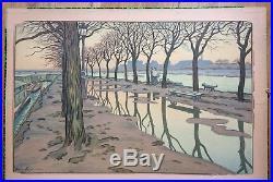 Henri RIVIERE (1864-1951) Ile aux cygnes 1900 Paysages Parisiens Lithographie