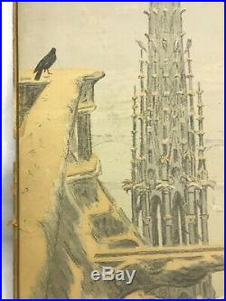 Henri Rivière (1864-1951) Notre Dame de Paris. Lithographie. 1900