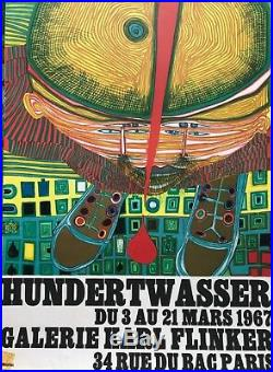 Hundertwasser Affiche Lithographie Originale Galerie Flinker Mourlot 1967