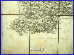 ILE DE GLENAN et GROIX, QUIMPER, LORIENT, CONCARNEAU carte geographique XVIIIeme