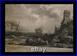 ITALIA NAPOLI VERNET (Joseph) / LE BAS (Philippe) Vue de Naples