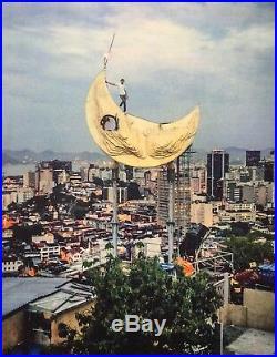 JR Lithographie Signé Brésil Casa Amarela Moon Street Art Photographie Print
