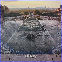 JR au Louvre, 18h08, 29 Mars 2019 IN HAND NO KAWS BANKSY INVADER