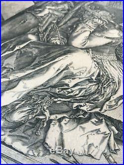 J. Wierix, d'ap. Dürer MELENCOLIA (1602) original engraving kupferstich gravure