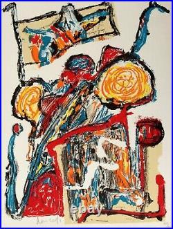 Jacques DOUCET Traces Lithographie originale signée
