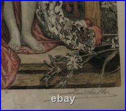 Japonaise Au Bain James Tissot Rare Eau Forte Originale numérotée 148/250 Signée