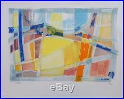 Jean CLUSEAU-LANAUVE (1914-1997) Lithographie Jeune Peinture Nle Ecole de Paris