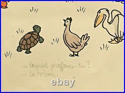 Jean EFFEL Lithographie originale signée & légendée Paradis Terrestre